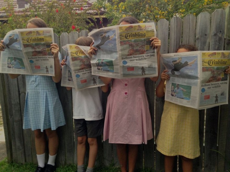 Launch of Crinkling News - the only national newspaper just for Australian kids!