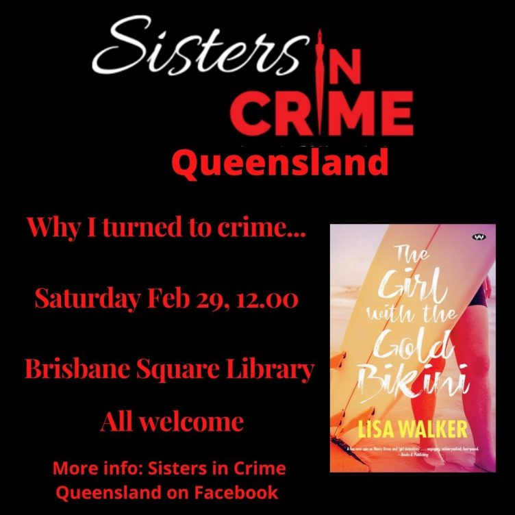 Author visit - Sisters in Crime Queensland