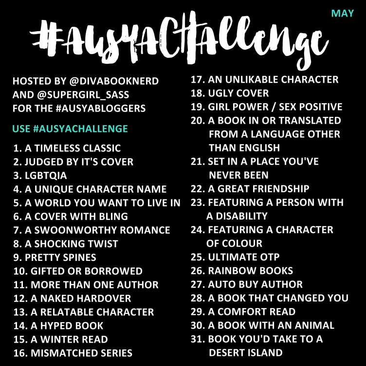 The May #AusYABloggers Instagram challenge