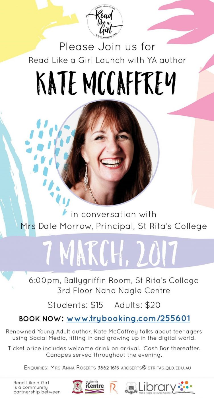 Read Like a Girl Launch with Kate McCaffrey