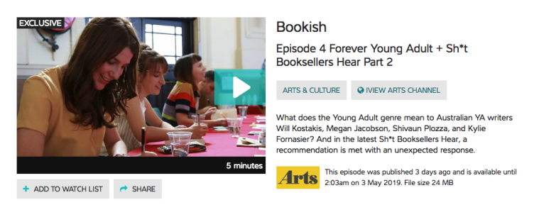 ABC iView - Bookish Episode 4 'Forever Young Adult'