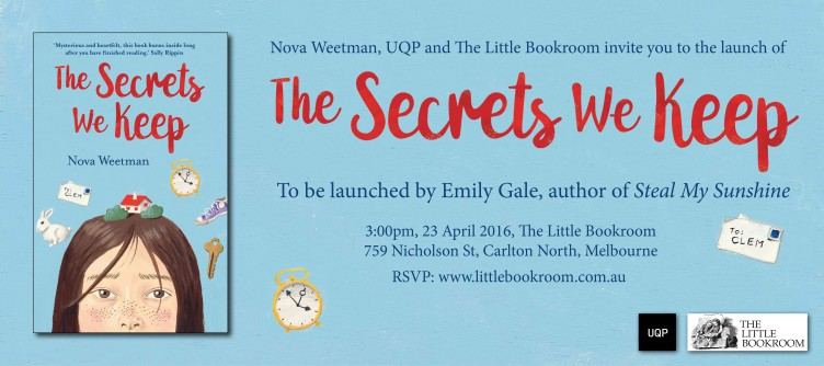 Launch of The Secrets We Keep by Nova Weetman